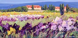 Campo Viola IV by Bruno Tinucci -  sized 16x8 inches. Available from Whitewall Galleries